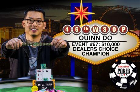 Quinn vyhrál $319,792 v $10K Dealers Choice a odváží si další náramek do své sbírky