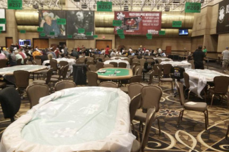 Heavy Rain Causes Leaky Roof at Rio; 23 Day 1b Main Event Tables Forced to Move