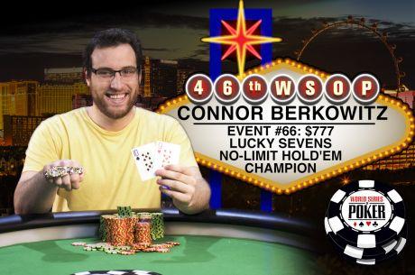 New Jersey Online Grinder Connor Berkowitz Osvojio Lucky 7s No-Limit Hold'em za $487,784