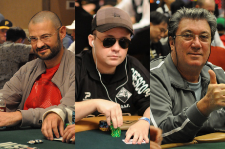 Nanev, Ezgam e Fernando Brito no Dia 3 do Main Event WSOP 2015