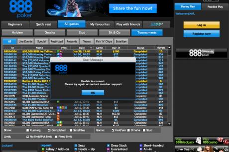 ÚLTIMA HORA: 888poker Já Não Está Acessível em Portugal