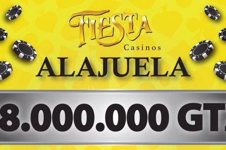 Hoy en el Casino Fiesta Torneo con ₡8,000,000 Garantizados