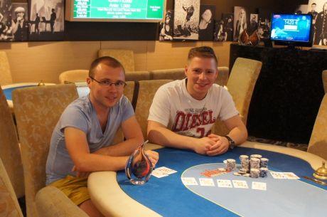 Tomas Kozlovas verčia antrą Summer Rock Poker Session turnyrą.