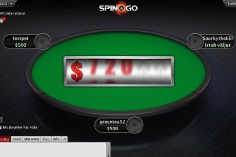 PokerStars lisas Spin & Go valikusse $100 sisseostuga turniirid