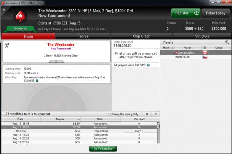 """PokerStars pristato """"The Weekender"""": naują dviejų dienų savaitgalio turnyrą"""