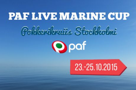 Algas registreerumine Paf Live Marine Cup 2015 pokkerikruiisile