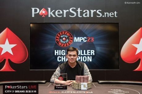 James Chen Wins Macau Poker Cup 23 High Roller for $220,000
