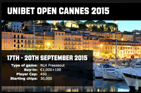 2015 Unibet Open Cannes to Host High Roller Tournament and €1,100 Freezeout Main Event