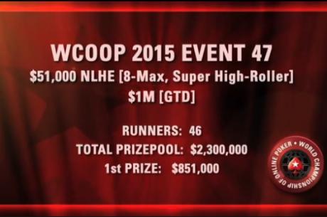 ВИДЕО: Най-интересното от финалната маса на WCOOP 2015:...