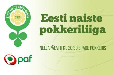 Eesti naiste pokkeriliiga 2015 algab 8. oktoobril