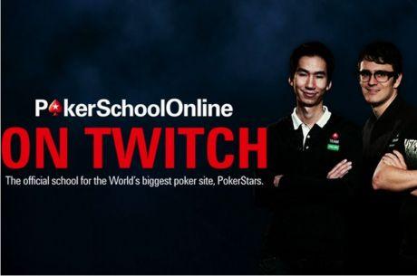 PokerStarsSchoolOnline MTT дискусия на живо в Twitch този уикенд