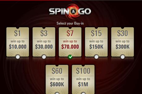 Новата Spin and Go топ награда вече е един милион долара