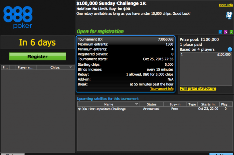 For First Depositors Only: Play In The $100,000 Sunday Challenge For Free!