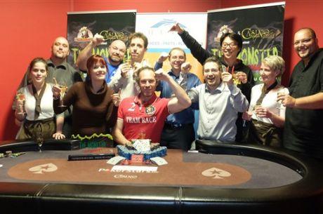 Emmanuel Legat vainqueur du Monster Tournament de Namur devant 1 148 joueurs