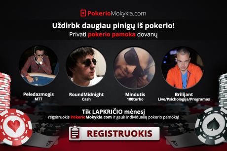 PokerioMokykla.com pasiūlymas: pokerio pamoka nemokamai