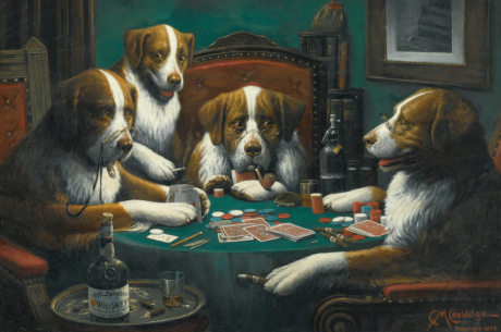 Famous Painting of Dogs Playing Poker Sells for Over $650,000