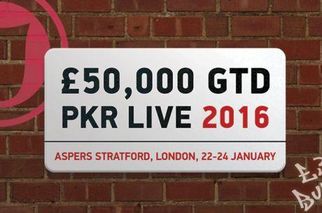 £50,000 PKR Live от 22 до 24 януари в Асперс казино, Лондон