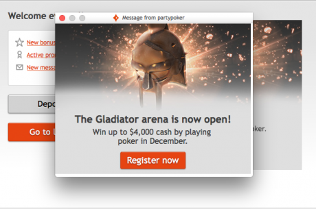 Online Poker Strike Update: Partypoker Brings Back The Gladiator