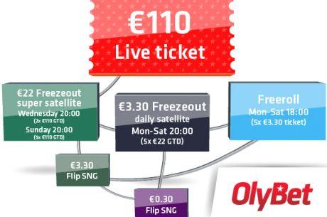 OlyBet Poker Series finaalkvalifikatsioon nüüd ka kolmapäeviti