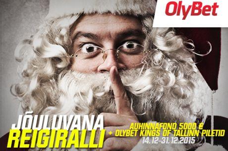 Jõuluvana reigiralli 14.-31. detsember OlyBet pokkeritoas