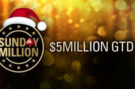 7-osobowy podział w Sunday Million, 31,335 graczy i ponad 6,2 mln w puli nagród!