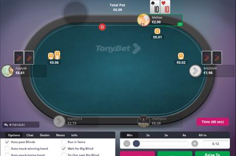 Prie naujas paslaugas siūlančių TonyBet Poker stalų žaidėjų laukia solidžios permokos