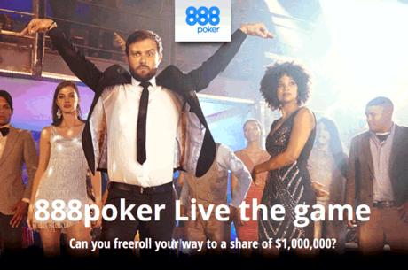 """888poker pune pe masa 1.000.000$ in turneele gratuite din promotia """"TRAIESTE JOCUL!"""""""