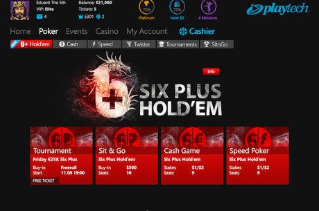 Rede iPoker Vai Lançar o Six Plus Hold'em