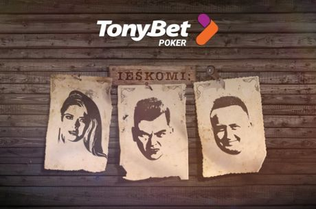 """""""TonyBet Poker"""" nemokamame turnyre - J. Leonavičiūtė, M. Katleris ir R. Mackevičius"""