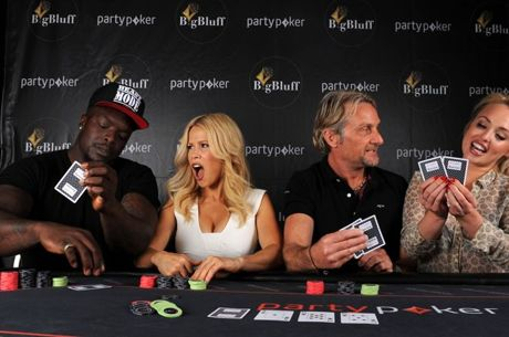 Vier Celebrities beim partypoker Big Bluff