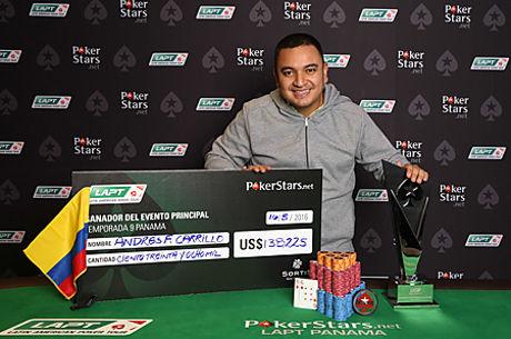 El colombiano Andrés Carrillo gana el LAPT9 Panamá; Raúl Páez solo pudo ser quinto
