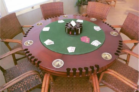 Bluffing in Style: Exquisite President Truman Poker Table Replica Featured in Charity Auction
