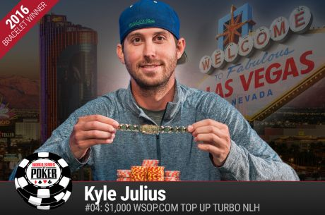 Kyle Julius Scores His First Live Win for a WSOP Gold Bracelet