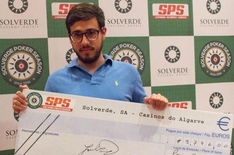 Alexandre Gama Vence Etapa #7 Solverde Poker Season (€9,746)
