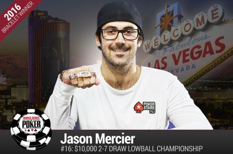 Jason Mercier Wins His 4th WSOP Bracelet and a Whole Lot More