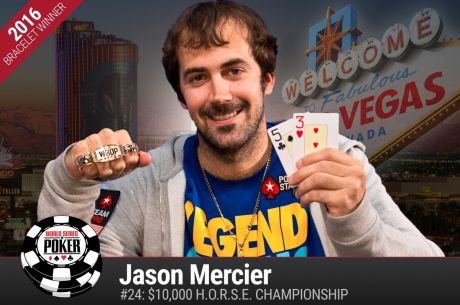 Double Vision: Jason Mercier Wins Second Gold Bracelet of the 2016 WSOP, Fifth Overall