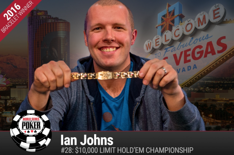 Ian Johns Wins Second Gold Bracelet of the Summer, Taking $10,000 Limit Hold'em Title