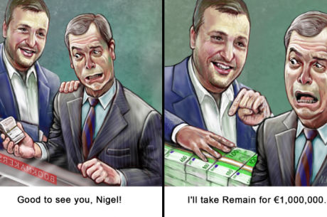 Tony G reta a un político europeo a apostar £1 millón de libras en la votación del...