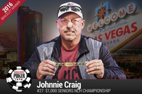 Johnnie Craig Vence Evento #27: $1000 Seniors No-Limit Hold'em Championship ($538.204)