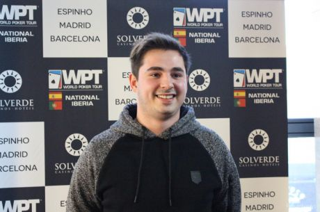 Tiago Neto Chip Leader do Dia 1B Espinho Poker Fest