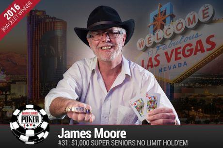 James Moore Vence Evento #31: $1000 Super Seniors No-Limit Hold'em ($230.626)