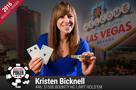 2016 World Series of Poker: Kristen Bicknell gewinnt Event 46