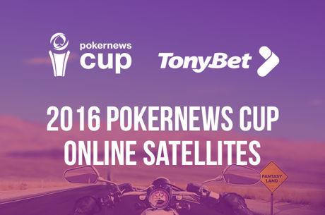 Вземи €10 бонус и се класирай за PokerNews Cup срещу €0,50 в...