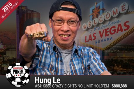 53-Year-Old Nail Salon Owner Hung Le Goes Crazy to Win Crazy Eights and $888,888