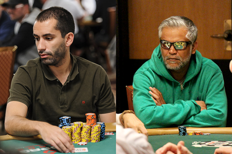 João Vieira e Ayaz Manji no Dia 2 do Evento #59: $5.000 No-Limit Hold'em