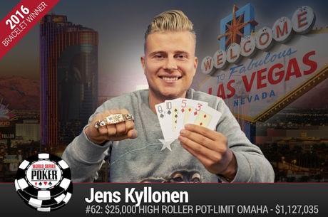 Jens Kyllonen Vence Evento #62: $25,000 High Roller PLO ($1.127.035)