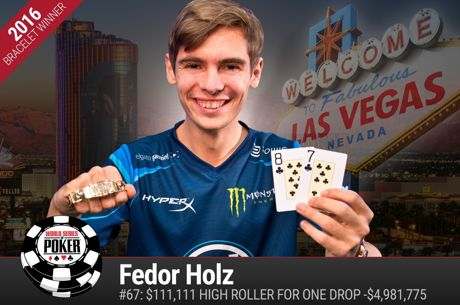 One Drop High Roller : Premier bracelet et 4,98 millions de dollars pour Fedor Holz, Dan Smith...