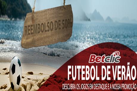 Futebol de Verão na Betclic: Reembolso nos jogos sem golos ao intervalo
