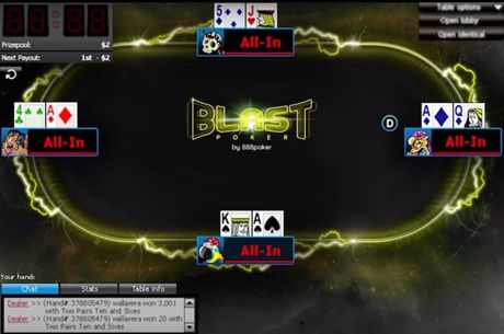Bouw jouw bankroll op met de 888poker's BLAST Sit-n-Gos