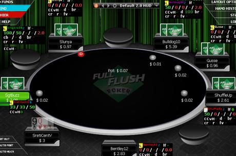 Full Flush Poker с прекратен лиценз и неработещ сайт, чието име вече се продава